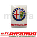 Emailleschild Alfa Romeo Officina 500 x 700 mm